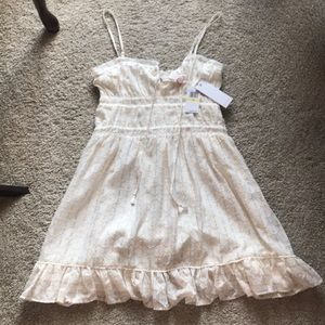 NWT Red Carter white and gold sundress